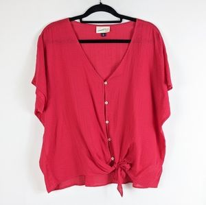 New Universal Thread Red Button Down Shirt